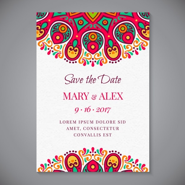 Download Free Wedding Invitations with luxury invitations template