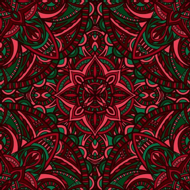 Mandala with abstract shapes Premium Vector