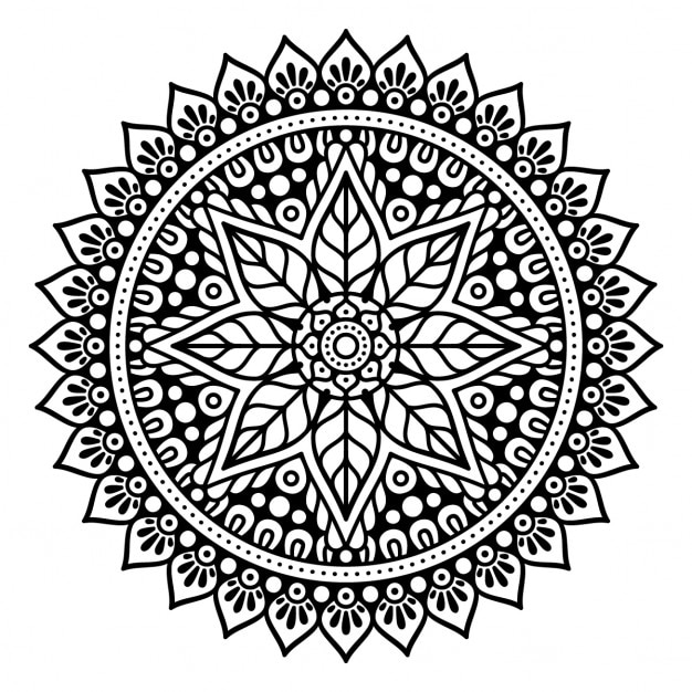 Mandala Without Color Vector Free Download