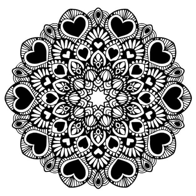 Mandalas coloring book, flower shape, Oriental therapy, Yoga logos ...