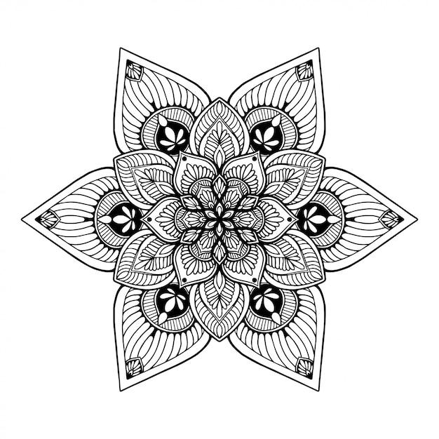 Mandalas coloring book, oriental therapy, yoga Vector ...