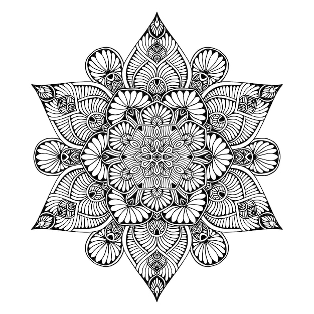 Mandalas for coloring  book. oriental vector, anti-stress therapy patterns. yoga logos vec Premium Vector