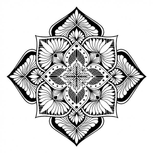 Mandalas coloring book. Premium Vector