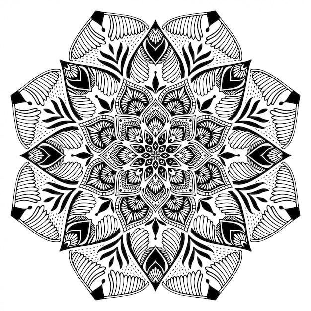 Mandalas coloring book Vector | Premium Download