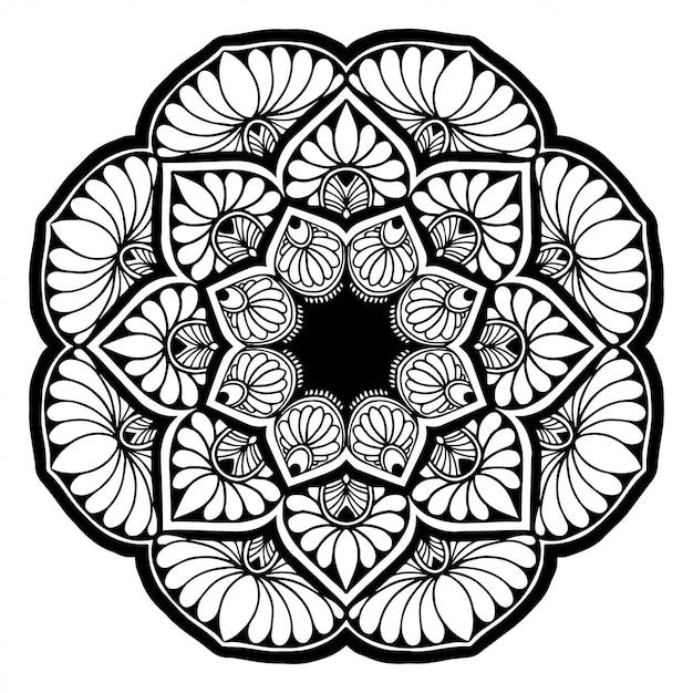 Mandalas coloring book Premium Vector