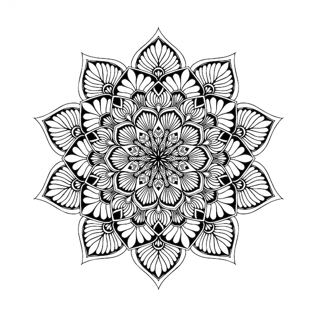 Mandalas coloring book Premium Vector