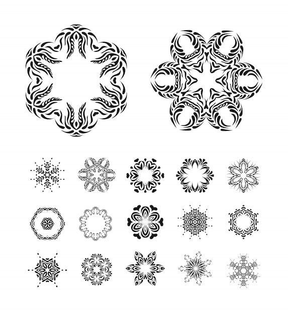 Mandalas ornament Premium Vector