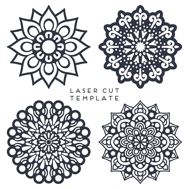 Mandla colletion for laser cut Free Vector