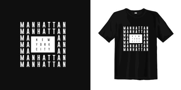 マンハッタンニューヨーク市のtシャツのデザイン Premiumベクター