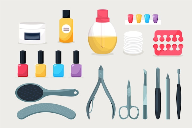 Manicure tools concept Free Vector