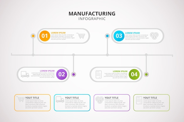 Manufacturing infographic Free Vector