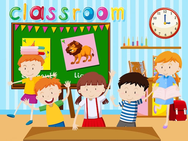 Image result for classroom cartoon images