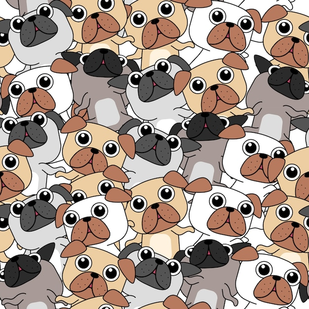 Many dogs pattern. Premium Vector