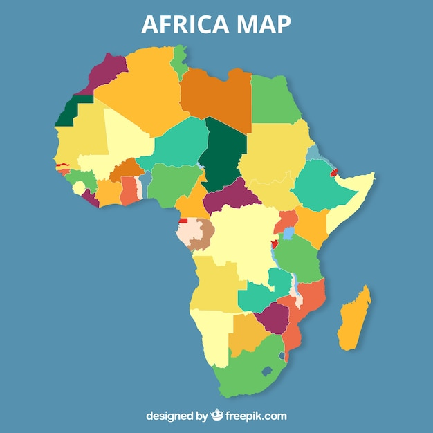 Map of africa in flat style Vector | Free Download