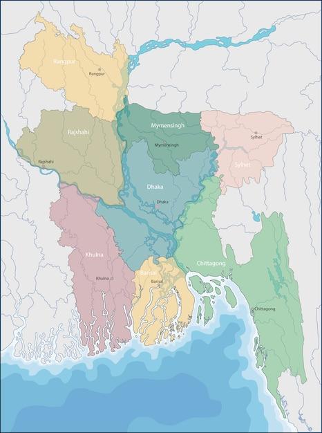 Map of bangladesh Vector | Premium Download