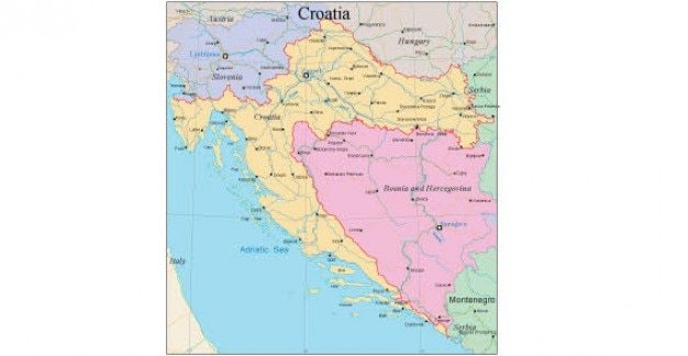 Map of croatia Vector | Free Download