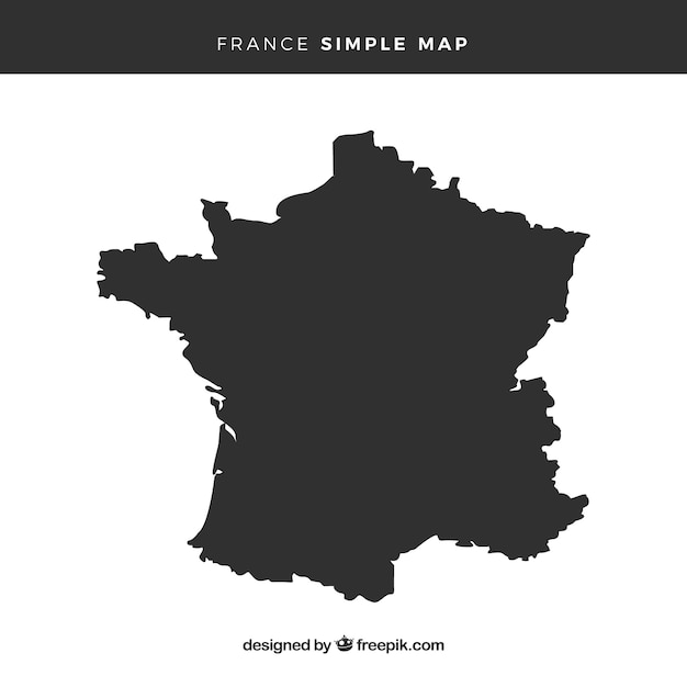 Map of france Free Vector