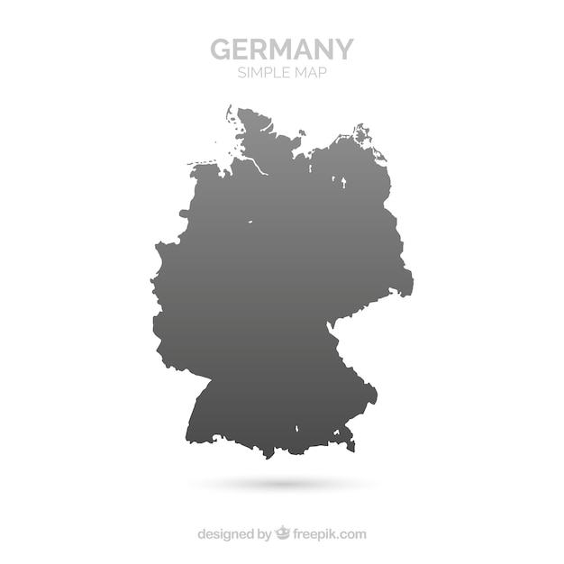 Map Of Germany To Color.Map Of Germany Vector Free Download