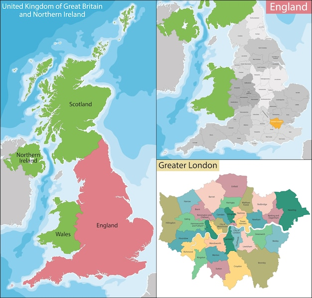 Download Map London.Map Of Greater London Vector Premium Download