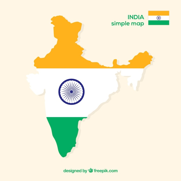 Map of india Free Vector