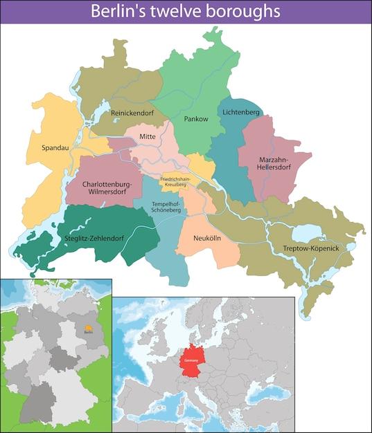 Map of Berlin Vector | Premium Download