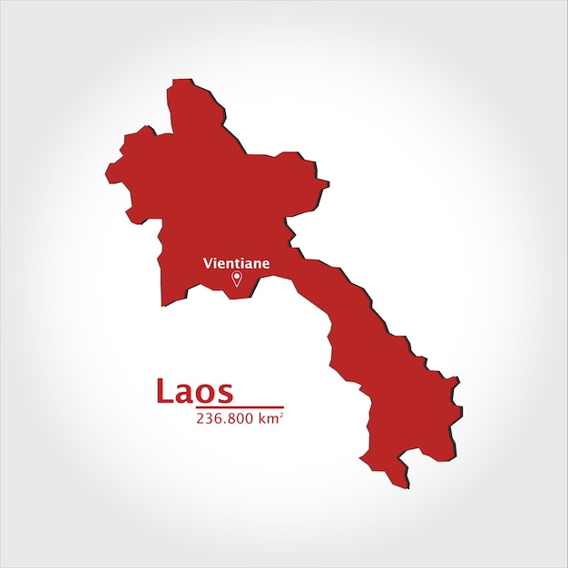 Map of Laos Vector | Premium Download