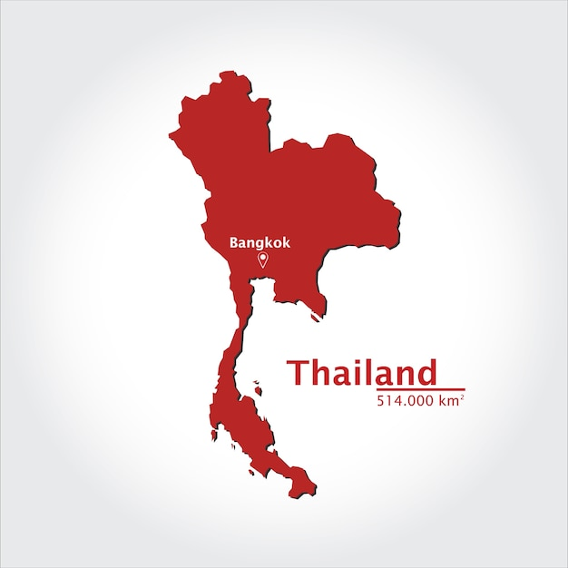 Map of Thailand Vector | Premium Download