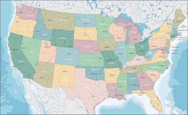 アメリカの地図 Premiumベクター