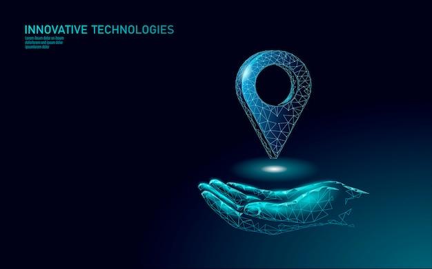 Карта точка расположение бизнес символ. реалистичные значок многоугольной доставки по всему миру. доставка в интернет-магазины направление города адрес позиции контактный Premium векторы