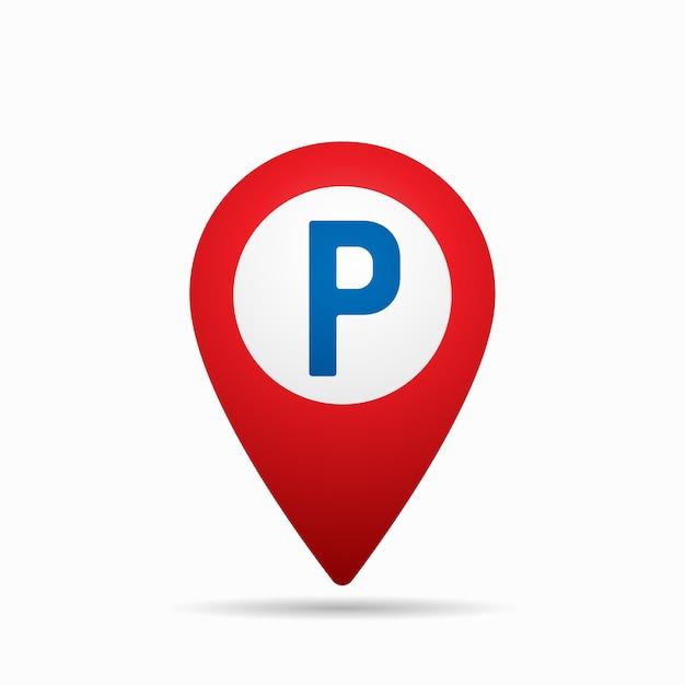 Указатель карты со значком автостоянки. Premium векторы