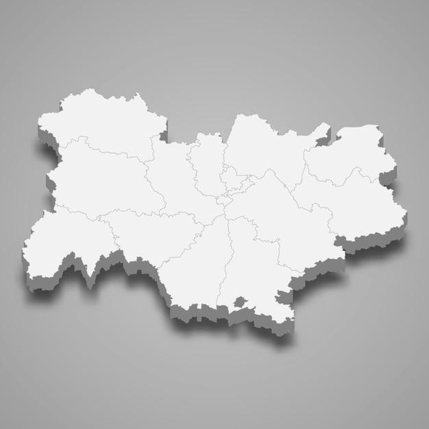 フランスの地図地域 Premiumベクター