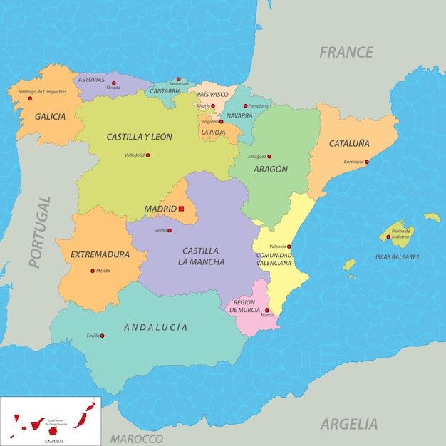 Map Of Spain To Color.Map Of Spain Vector Premium Download