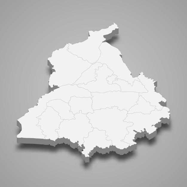 インドの地図の状態 Premiumベクター