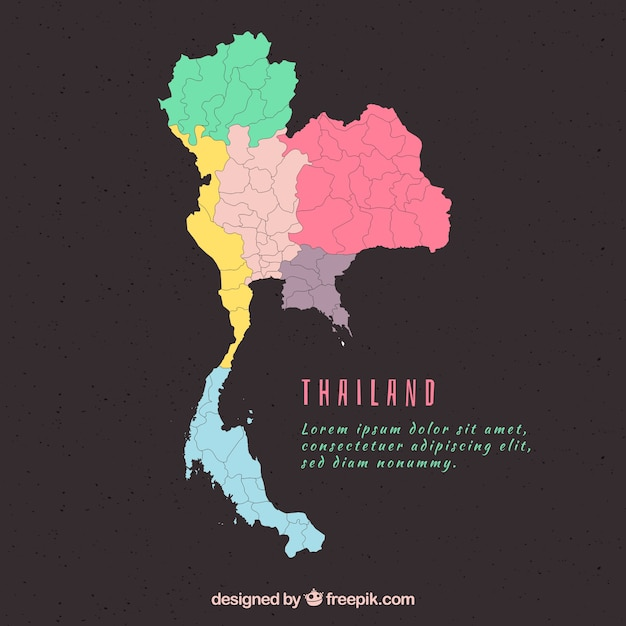 Map of thailand with provinces Vector | Free Download