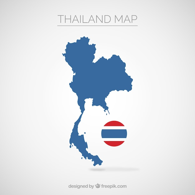 Map of thailand Free Vector