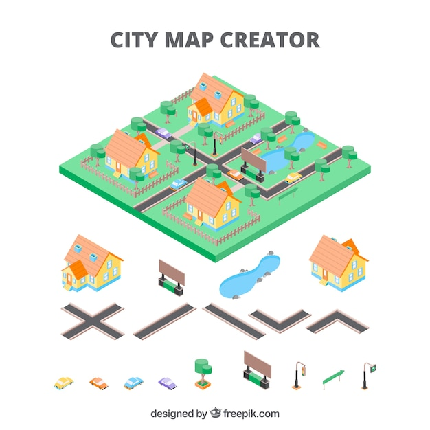 Mapmaker for cities in isometric view vector free download mapmaker for cities in isometric view free vector ccuart Image collections