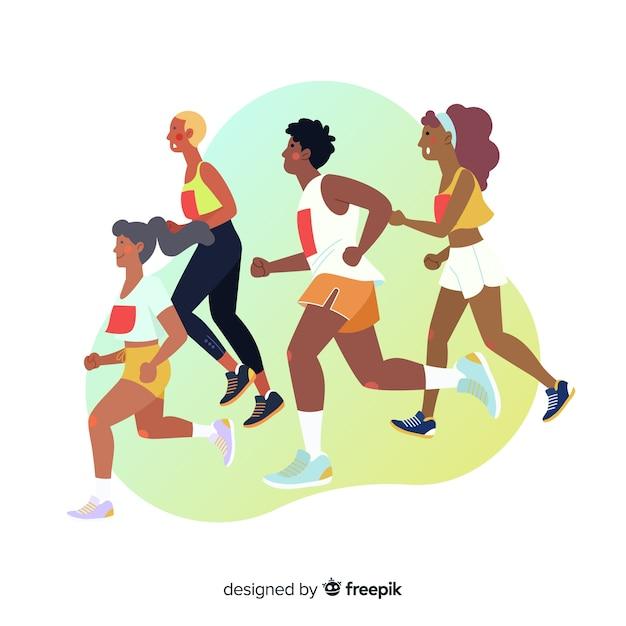 Marathon race Free Vector