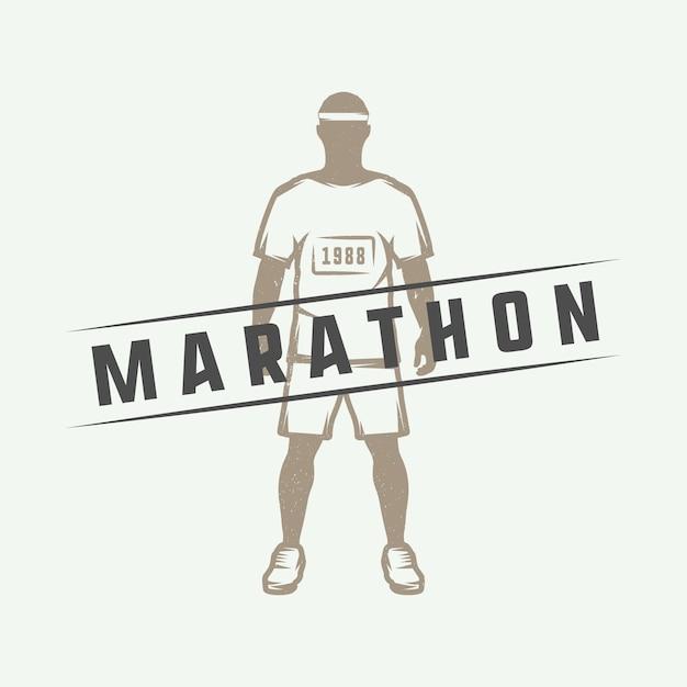Marathon or run logo Premium Vector