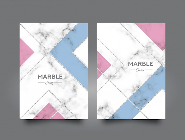 Book Cover Design Freepik : Marble abstract book cover design template vector