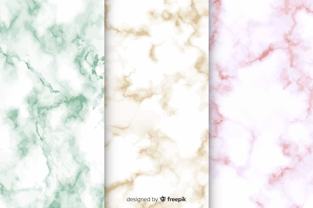 Marble background pack Free Vector