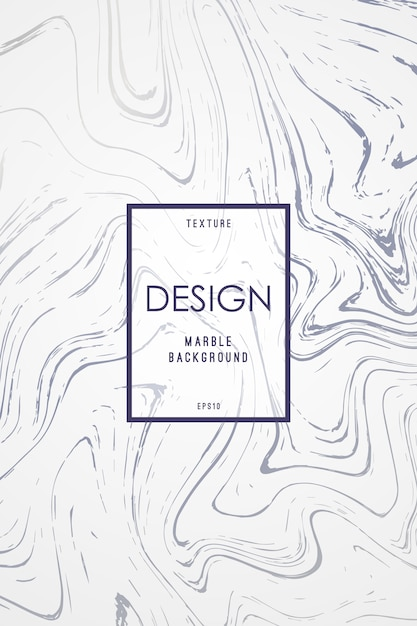 Marble design template for invitation. Premium Vector