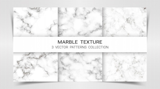 Marble premium set patterns collection template. Premium Vector