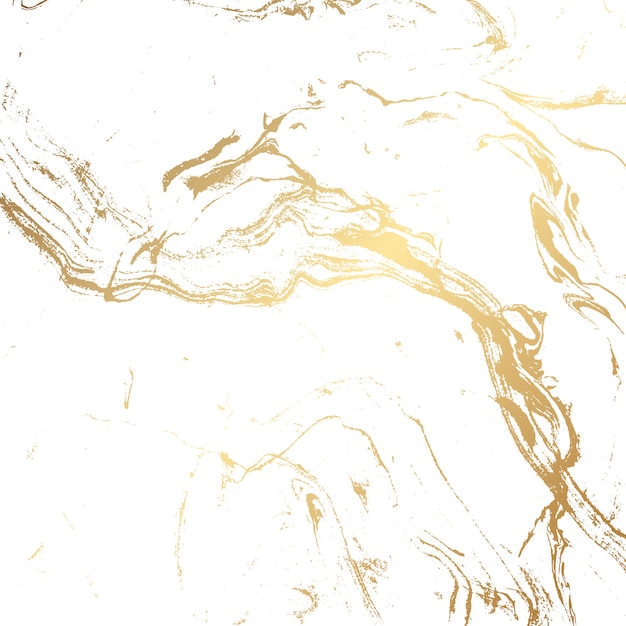 金と白の大理石のテクスチャ背景 無料ベクター