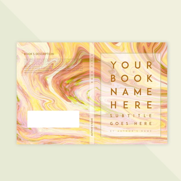 Marble Textured Book Cover Template  Free Vector