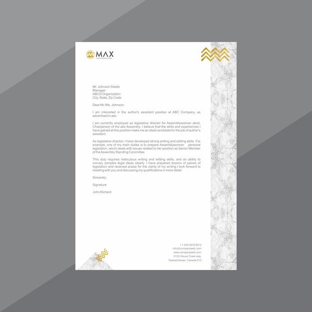 Мраморный белый и золотой бланк Premium векторы