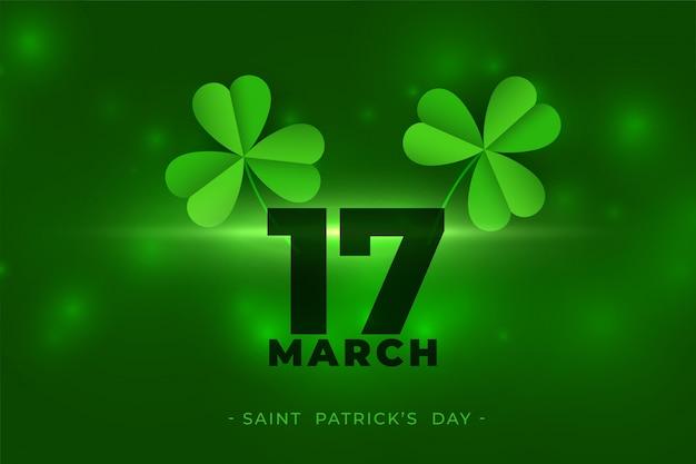 3月17日幸せな聖パトリックの日の背景 無料ベクター