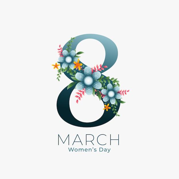 8 marzo sfondo per la festa della donna Vettore gratuito