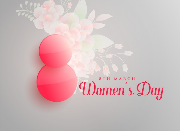 March 8th happy women's day background Free Vector