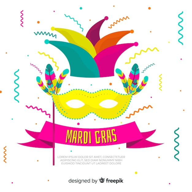 Mardi gras background Free Vector
