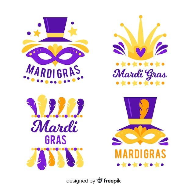 Mardi Gras Badge Collection Vector